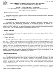 Instructions for Form Rp-483-c - Application for Real Property Tax Exemption for Temporary Greenhouses