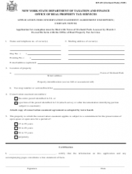 Form RP-491 Application for Conservation Easement Agreement Exemption. Certain Towns - New York