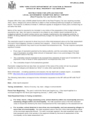 Instructions for Form Rp-495 - Application for Local Government Exemption Impact Report
