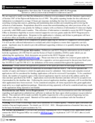 VA Form 10-10072C Renewal Application for Supportive Services Grant - Supportive Services for Veteran Families (Ssvf) Program
