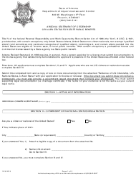 Arizona Statement Of Citizenship Or Alien Status For State Public Benefits - Arizona
