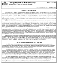 "PBGC Form 708 ""Designation of Beneficiary"""