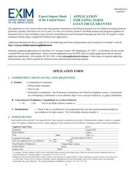 """Application for Long-Term Loan or Guarantee"""