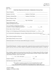 """FWS Form DI-7600 """"Administrative Grievance Form"""""""