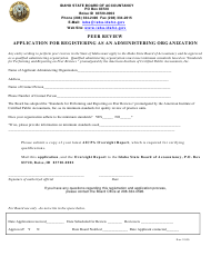 Application for Registering as an Administering Organization - Idaho