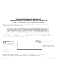 GSA Form SF-8 Notice to Federal Employee About Unemployment Insurance - Unemployment Compensation for Federal Employees (Ucfe) Program