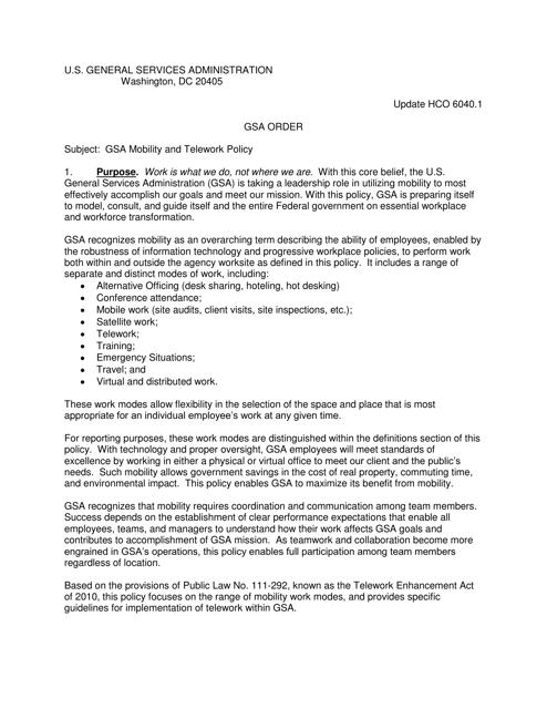 Gsa Telework Agreement Download Printable Pdf Page 6 Of 21