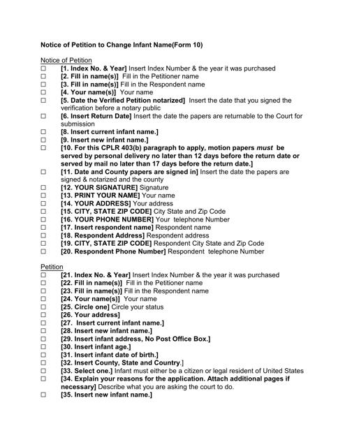 Form 10  Printable Pdf