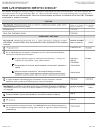 "Form HCS9201 ""Home Care Organization Inspection Checklist"" - California"