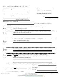 """Form CIV-GP-13 """"Affidavit in Support of an Order to Show Cause"""" - New York City"""