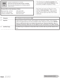 "Form GS53 ""General Partnership/Limited Liability Partnership Statement of Dissociation"" - Kansas"