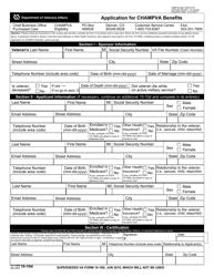 VA Form 10-10D Application for Champva Benefits