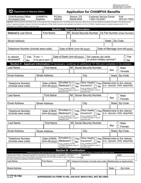 VA Form 10-10D Fillable Pdf