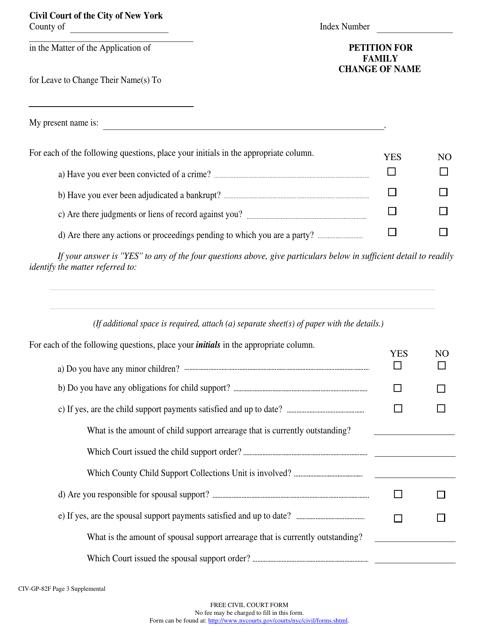 Form CIV-GP-82F  Printable Pdf