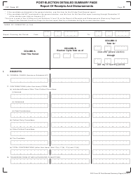 """FEC Form 3P """"Post-election Detailed Summary Page - Report of Receipts and Disbursements"""""""