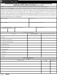 VA Form 0880b Worksheet For Determining Percentages On Memorandum
