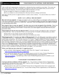 VA Form 4107VHA Your Rights to Appeal Our Decision