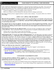 "VA Form 4107VHA ""Your Rights to Appeal Our Decision"""