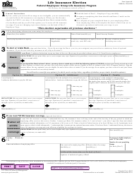 "GSA Form SF-2817 ""Life Insurance Election"""
