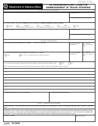 "VA Form 10-3542 ""Veteran/Beneficiary Claim for Reimbursement of Travel Expenses"""