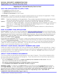 Form SS-5 Application for a Social Security Card