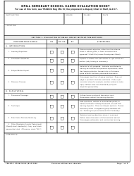 Form 369-E Drill Sergeant School Cadre Evaluation Sheet