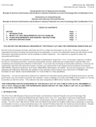 Instructions for Fcc Form 486 - Schools and Libraries Universal Service Receipt of Service Confirmation and Children's Internet Protection Act and Technology Plan Certification