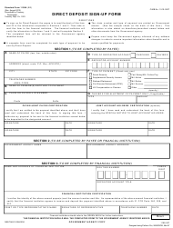 "Form SF-1199A ""Direct Deposit Sign-Up Form"""
