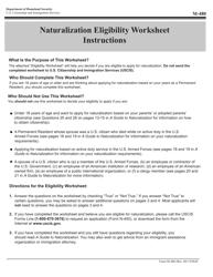 USCIS Form M-480 Naturalization Eligibility Worksheet
