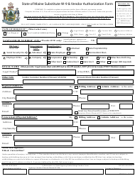 "Form W-9 ""State of Maine Substitute W-9 & Vendor Authorization Form"" - Maine"