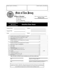 Form PPT-G-FS 2017 Gasoline Floor Stock - New Jersey