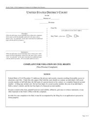 Form Pro Se 15 Complaint for Violation of Civil Rights - Non-prisoner Complaint