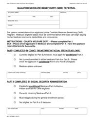 Form MC 176 QMB-3 Qualified Medicare Beneficiary (qmb) Referral - California