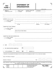 "FEC Form 1 ""Statement of Organization"""