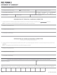 FEC Form 2 Statement of Candidacy