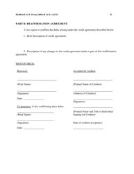 "Form B2400A/B ALT ""Reaffirmation Agreement"", Page 6"