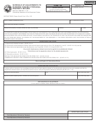 Form 106 Schedule of Adjustments to Business Tangible Personal Property Return - Indiana