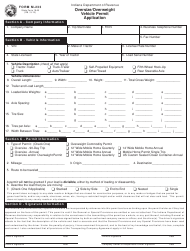 """Form M-233 """"Oversize/Overweight Vehicle Permit Application"""" - Indiana"""