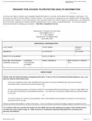 Form DHCS 6236 Request For Access To Protected Health Information - California