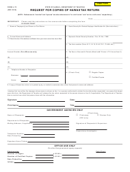 Form L-72 Request for Copies of Hawaii Tax Return - Hawaii