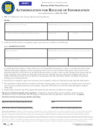 Form 13 Authorization for Release of Information