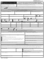 VA Form 40-10007 Application for Pre-need Determination of Eligibility for Burial in a VA National Cemetery