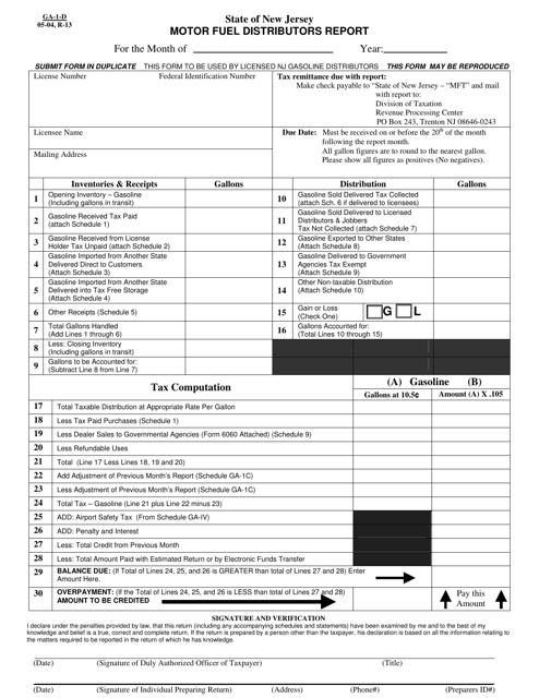 Form GA-1-D  Printable Pdf