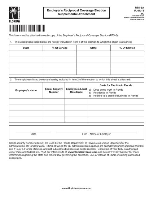 Form RTS-6A  Printable Pdf