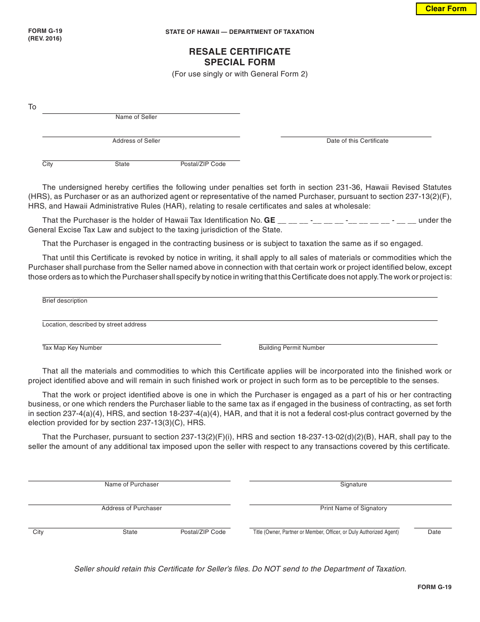 certificate resale form hawaii special pdf templateroller fillable fill