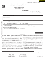 Form GEW-TA-RV-6 Application for Extension of Time to File the Ge/Use Tax Annual Return & Reconciliation (Form G-49), the Ta Tax Annual Return & Reconciliation (Form Ta-2), or the Rvst Annual Return & Reconciliation (Dual Rate Form Rv-3) - Hawaii