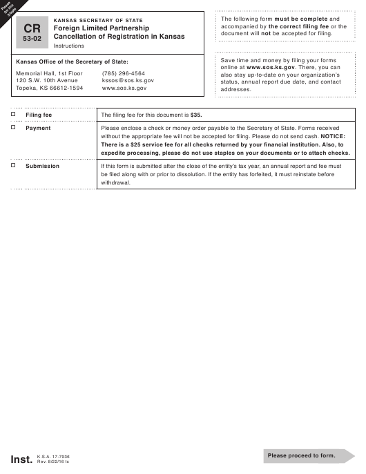 Form CR 53-02 Fillable Pdf
