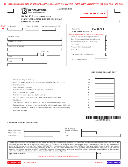 Form RCT-132A Printable Pdf