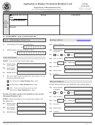 USCIS Form I-90 Application to Replace Permanent Resident Card