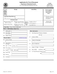 USCIS Form I-131 Application for Travel Document